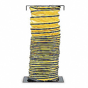 "25 ft. Ventilation Duct with 20"" Dia., Black/Yellow&#x3b; Use With Blowers In Manhole Applications"