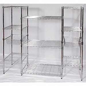 starter wire shelving unit 68w x 18d x 63h - Wire Shelving Units