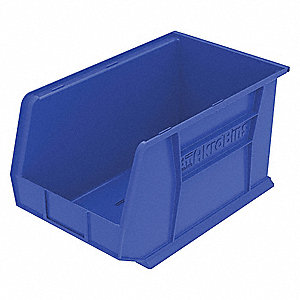 Hang/Stack Bin,H 10, W 11,D 18,Blue