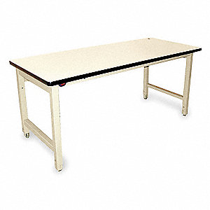 "Ergonomic Workbench, 60"" Length, 30"" Width, Laminate  Pull-Pin"