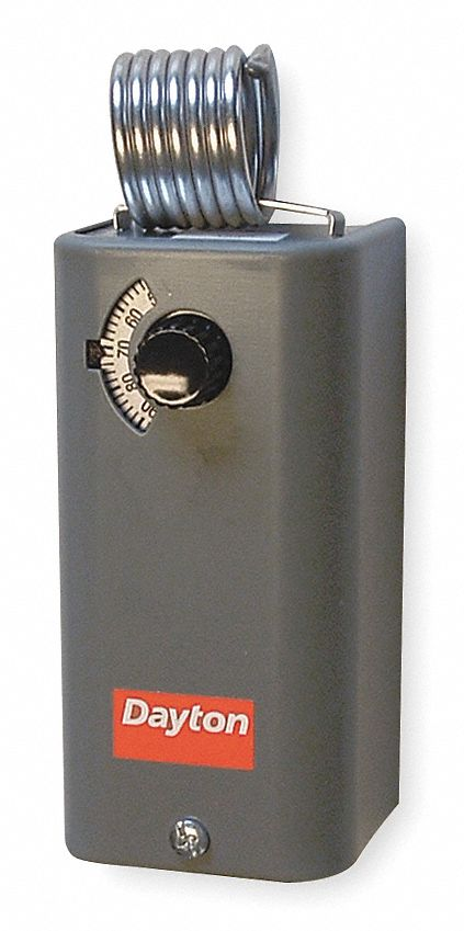 DAYTON Line Volt Mechanical Tstat for Cooling, 24 to 240VAC - 1UHH4