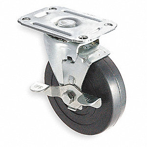 "3"" Light-Duty Swivel Plate Caster, 100 lb. Load Rating"