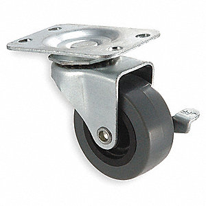 "2"" Light-Duty  Swivel Plate Caster, 75 lb. Load Rating"
