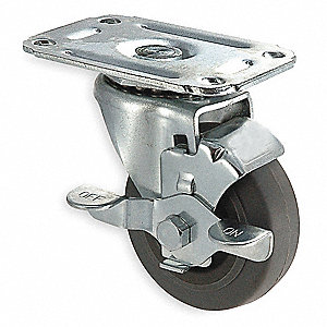 "4"" Light-Duty Swivel Plate Caster, 135 lb. Load Rating"
