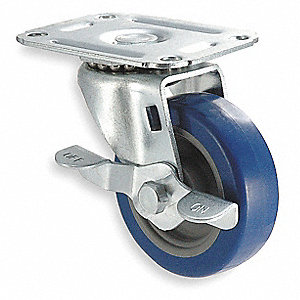 "5"" Light-Duty Swivel Plate Caster, 145 lb. Load Rating"
