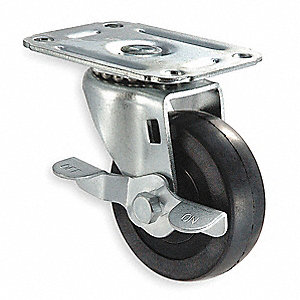"5"" Light-Duty Swivel Plate Caster, 125 lb. Load Rating"