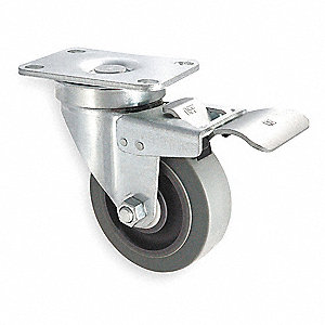 "3"" Plate Caster, 200 lb. Load Rating"