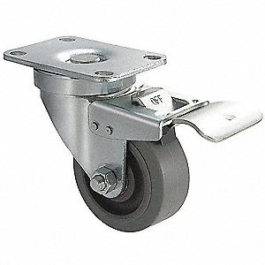 "5"" Light-Medium Duty Swivel Plate Caster, 325 lb. Load Rating"