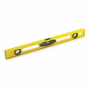 "ABS Plastic I-Beam Level, 24"" Length, Nonmagnetic, Top Read: Yes"