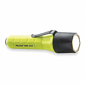 Tactical LED Handheld Flashlight, Plastic, Maximum Lumens Output: 90, Yellow