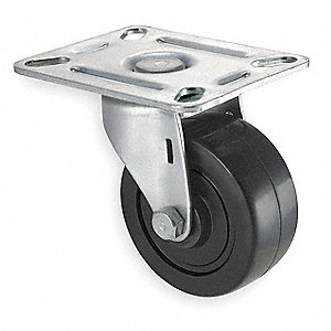 "3"" Light-Duty Swivel Plate Caster, 125 lb. Load Rating"