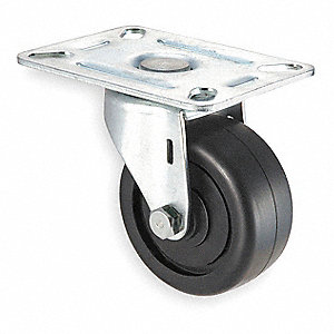 "2-1/2"" Light-Duty Swivel Plate Caster, 175 lb. Load Rating"