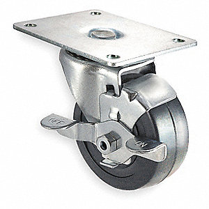 "2"" Light-Duty Swivel Plate Caster, 100 lb. Load Rating"
