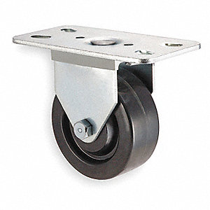 "3"" Light-Duty Rigid Plate Caster, 250 lb. Load Rating"