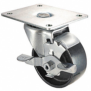 "3"" Light-Duty Swivel Plate Caster, 250 lb. Load Rating"