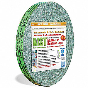 "Expanding Sealant Tape, Acrylic Tape Adhesive, 1"" X 12 ft., Continuous Roll, Gray"