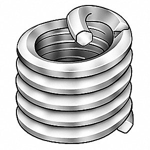 "0.207"" 18-8 Stainless Steel Threaded Insert with 6-32 Internal Thread Size&#x3b; PK100"