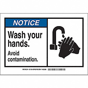 Notice Sign,3-1/2 x 5 In.,Polyester