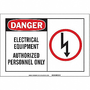 Safety Sign Label,5 In. W,3-1/2 In. H