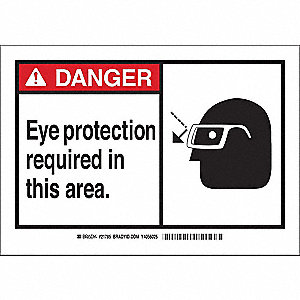 Safety Sign Label,3-1/2 x 5,Self-Adhes.