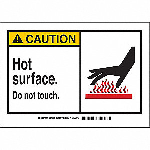Caution Sign,7 x 10 In.,Self-Adhes.