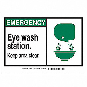 Safety Sign,7 x 10 In.,Self-Adhes.