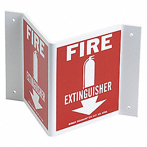 Fire Extinguisher Sign,5-1/2 x 10In,FEXT