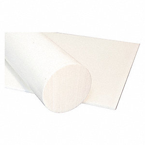 "Sheet Stock, PETP, 24""L x 24""W x  0.750"" Thick, 210 Max. Temp. (F), White"