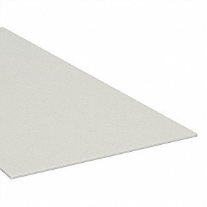 "Sheet Stock, PEEK, 6""L x 6""W x  2.000"" Thick, 480 Max. Temp. (F), Tan"