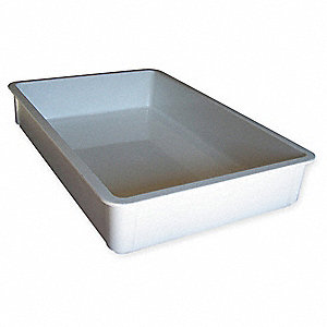 Stacking Container,HD,L 25 3/4,White