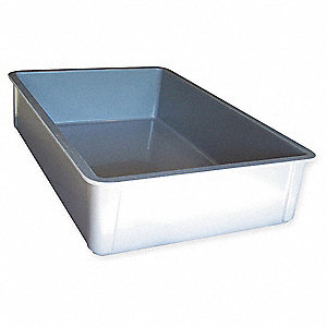 Stacking Container,HD,L 25 3/4,D 6,Gray