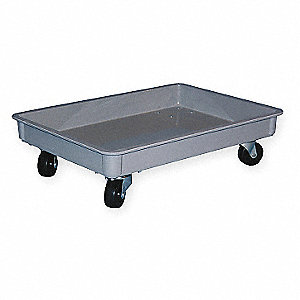 STACKING CONTAINER DOLLY,HD,D 3,W 1