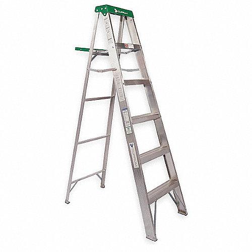 Cuprum escalera de tijera 225lb alum 7 pies escaleras for Escaleras 10 peldanos de tijera