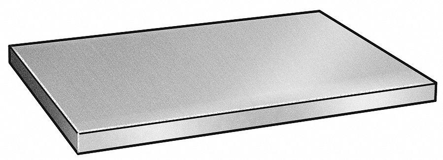 Blank Stock,  304,  Stainless Steel,  Thickness 1.0 in,  Width 12.0 in,  Length 24.0 in