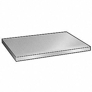 Aluminum Flat Bar Stock, 0.031 in Thickness, 3/8 in x 12 in W x L, Alloy 3003