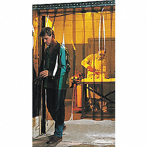 Welding Strip Door, Smooth Strip Type, 8 ft. Opening Width, 8 ft. Opening Height