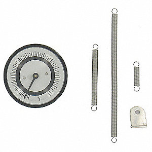 BIMETAL THERMOM,2 IN DIAL,70 TO 370
