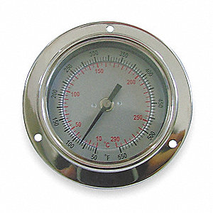 Bimetal Therm,2-1/2 In Dial,-40to160F
