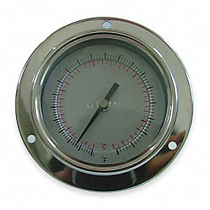 BIMETAL THERM,2-1/2 IN DIAL,-40TO16