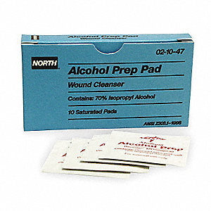 "Alcohol Prep Pads, 1"" x 2-1/2"" Box"