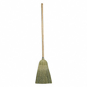"Corn Broom,Head and Handle,11-1/2"",Tan"
