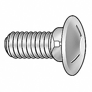 Carriage Bolt,Zinc,3/8-16x5 L,Pk50