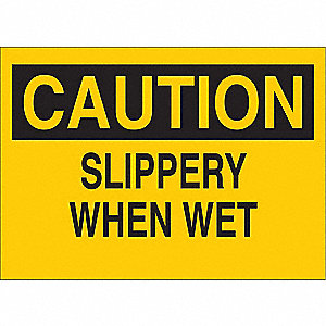 Caution Sign,10 x 14In,BK/YEL,ENG,Text