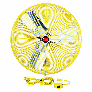 "30"" Industrial Non-Oscillating Safety Yellow Air Circulator"