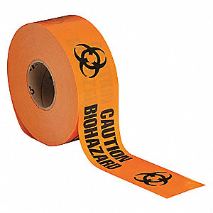 Barricade Tape,Orange/Black,1000ft x 3In