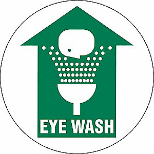 Eye Wash Sign,17 x 17In,GRN/WHT,Eye Wash