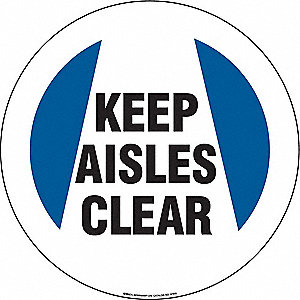 "Keep Clear, No Header, Vinyl, 17"" x 17"", Adhesive Surface, Not Retroreflective"