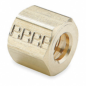 "Brass Compression Nut, 3/4"" Tube Size"