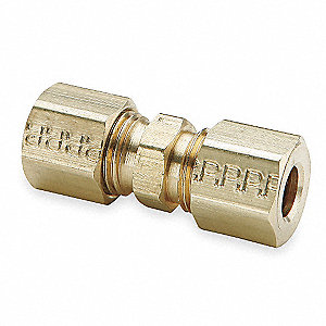 "Union Reducer, 1/2"" x 3/8"" Tube Size, 1/2"" Pipe Size - Pipe Fitting, Metal, 11/16"" Hex Size, PK 10"