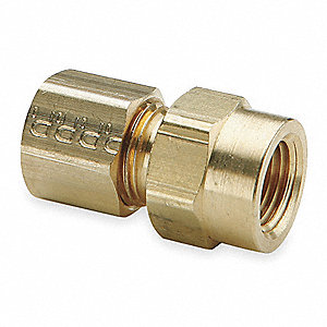 "Brass Compression x FNPT Female Connector, 5/16"" Tube Size"